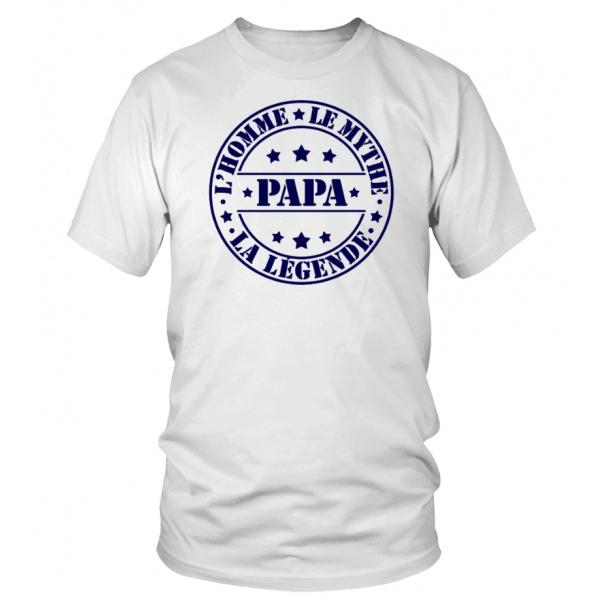 Numéro 1 papa-Fête Des Pères Papa Cadeau Anniversaire Drôle Hommes Baseball Top