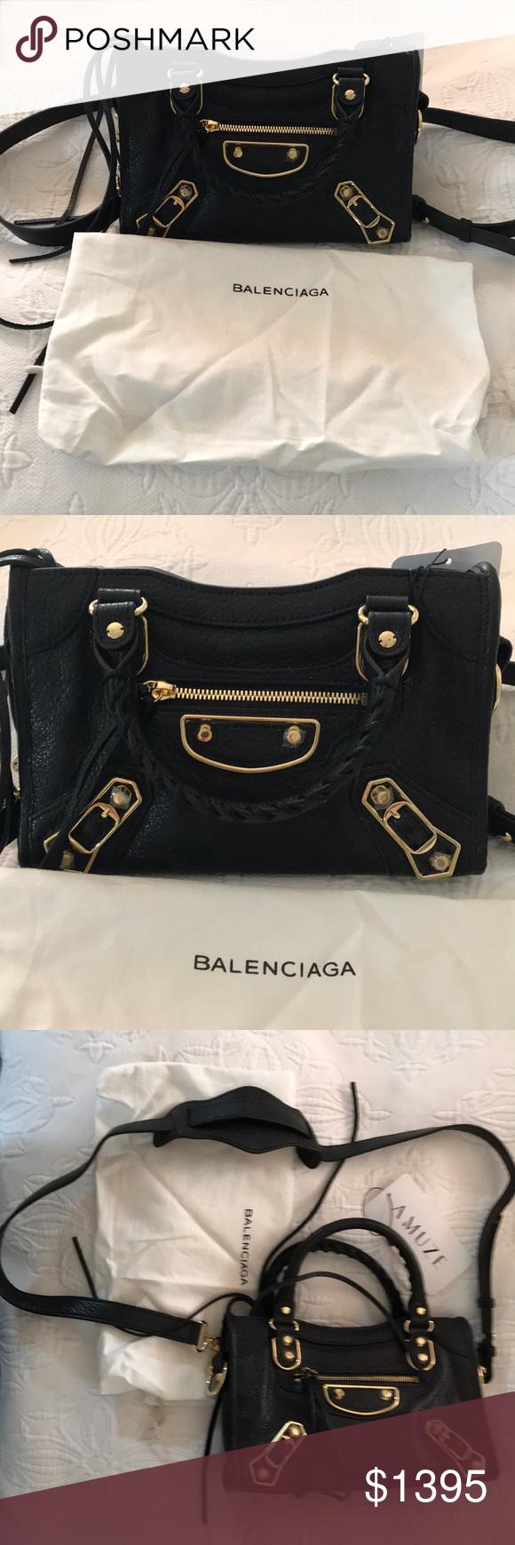 5ee2e95e69 Baleciaga Edge Mini City Bag NWT 100% Authentic Balenciaga Metallic Edge Mini  City Bag.