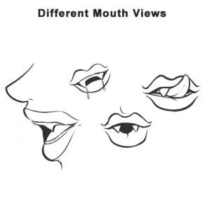how to draw a vampire step 1 | Lips drawing, Mouth drawing ...