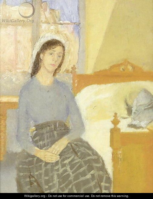 The Convalescent - Gwen John - WikiGallery.org, the