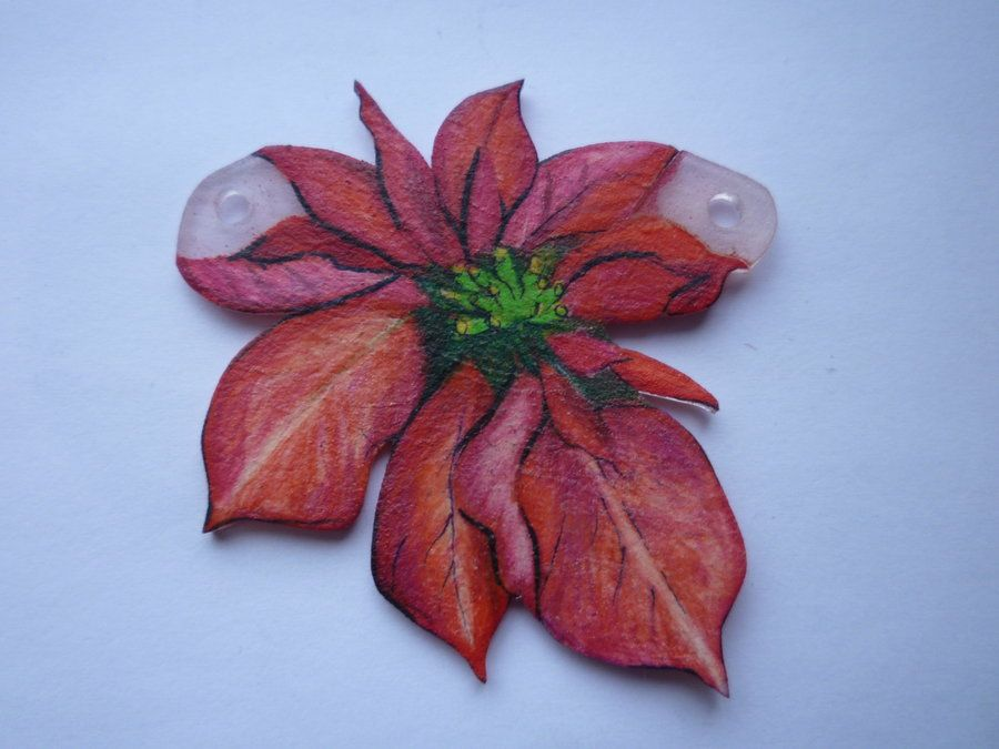 Pointsettia Pendant by ~dragonpy on deviantART