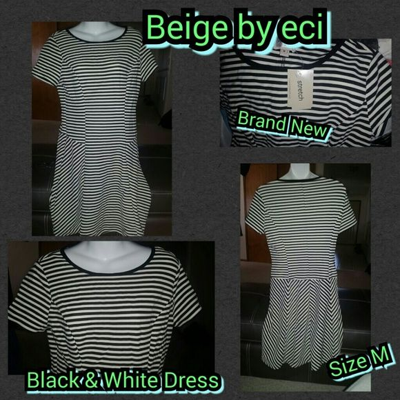 Selling this Black & White Dress in my Poshmark closet! My username is: kfrye71. #shopmycloset #poshmark #fashion #shopping #style #forsale #Beige #Dresses & Skirts