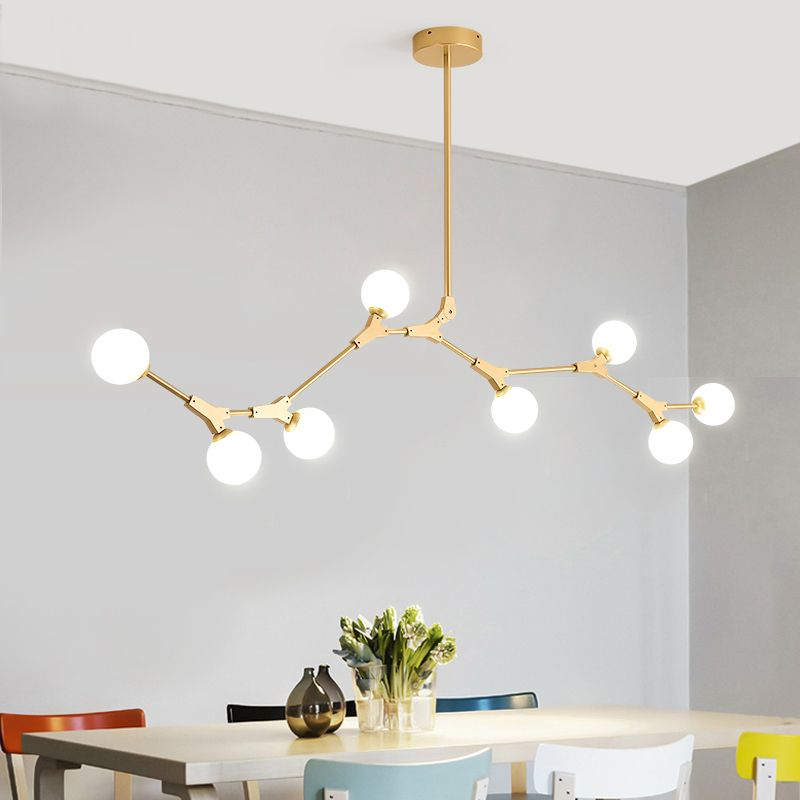 Contemporary Organic Branching 8 Light Large Kitchen Island ...
