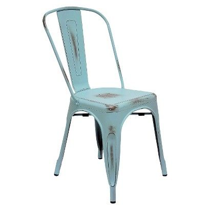 Charmant AEON Garvin Galvanized Steel Chair(Set Of 2)   For Our Desk.