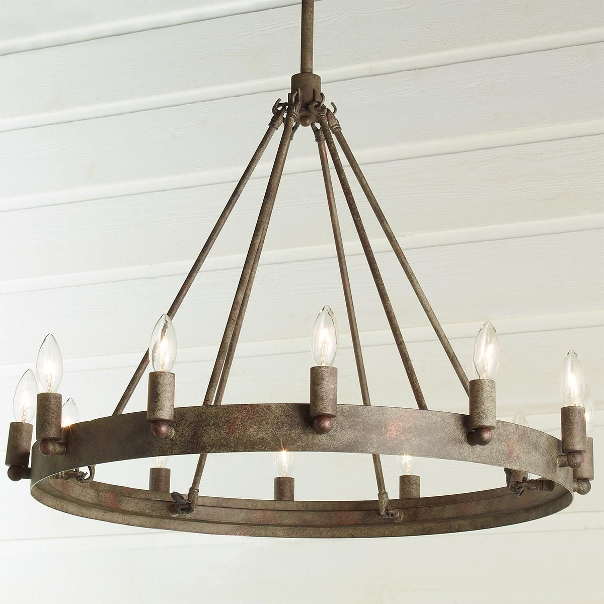 Urban Loft Industrial Circular Chandelier 12 Light Circular Chandelier Family Room Lighting Urban Industrial Decor