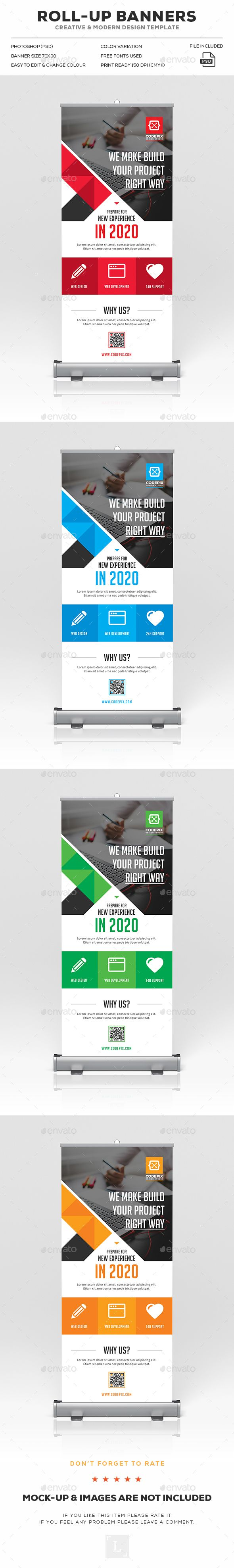 corporate roll up banner ad design banner template and design corporate roll up banner ads design template signage print template psd here