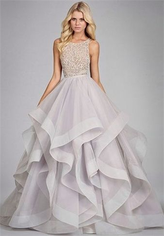A Line Backless Prom Dresses Glamorous Ball Gown Tulle Long Sexy ... 3f584deef