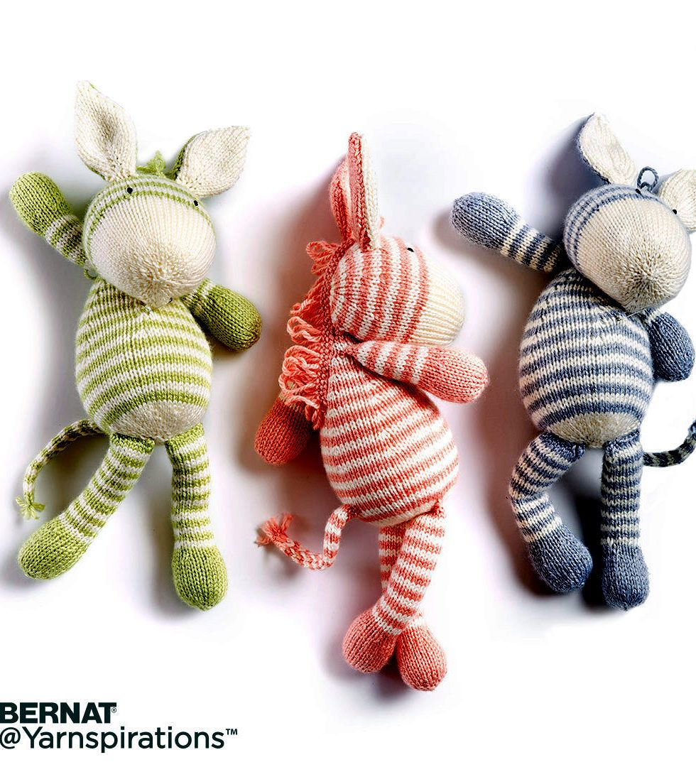 Horse and other equine knitting patterns knitting patterns toy free knitting pattern for zebra toy this softie by bernat is approx 12 bankloansurffo Gallery