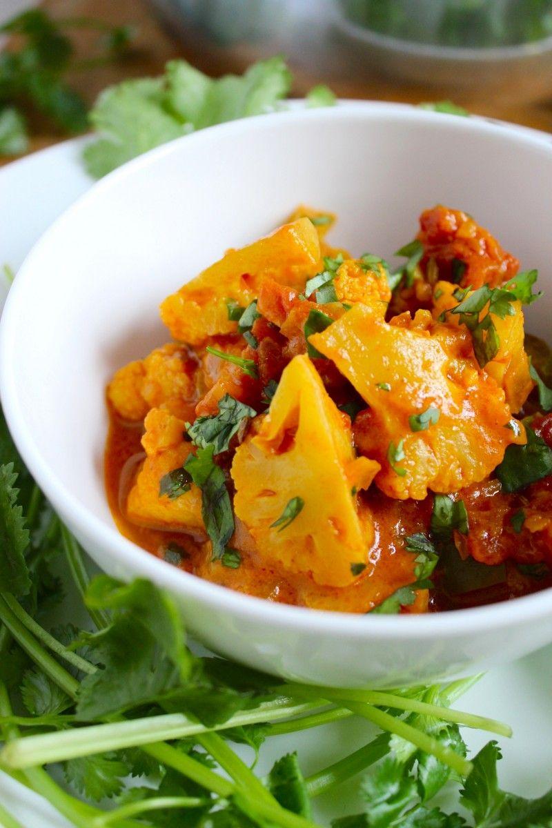 Easy Vegan Cauliflower Curry