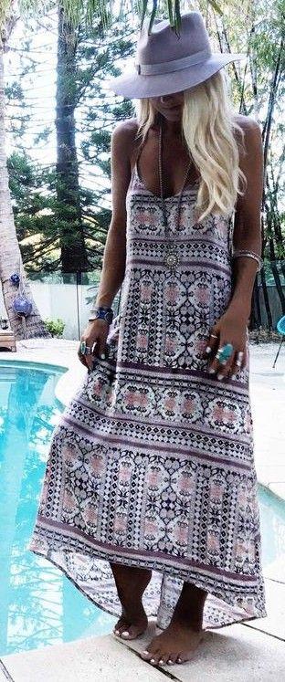 #gypsylovinlight #coachella #hippie #style #spring #summer #inspiration  Byron blues maxi dress