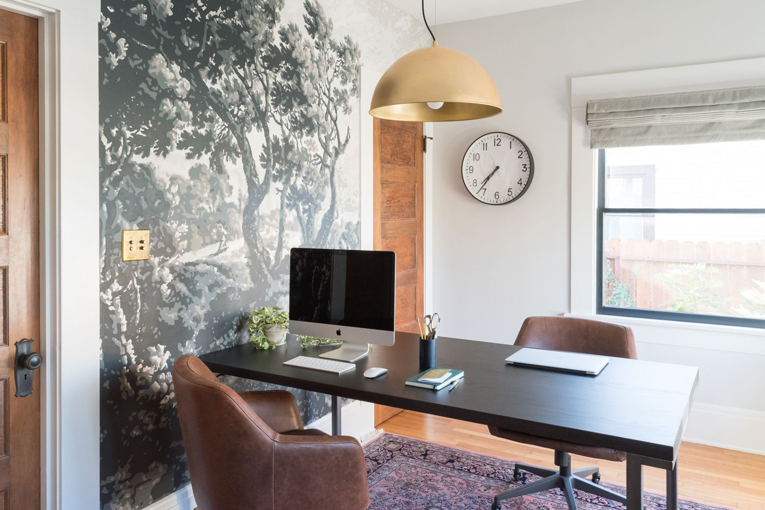 home office awesome house room. The Gold Hive Home Office Reveal - This Mural Paper Is Awesome Home Office House Room S