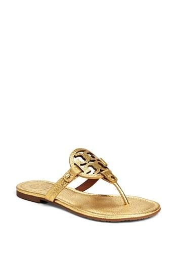 3dce789f1c6b65 Pair this Tory Burch Miller sandal with a maxi dress and sun hat ...