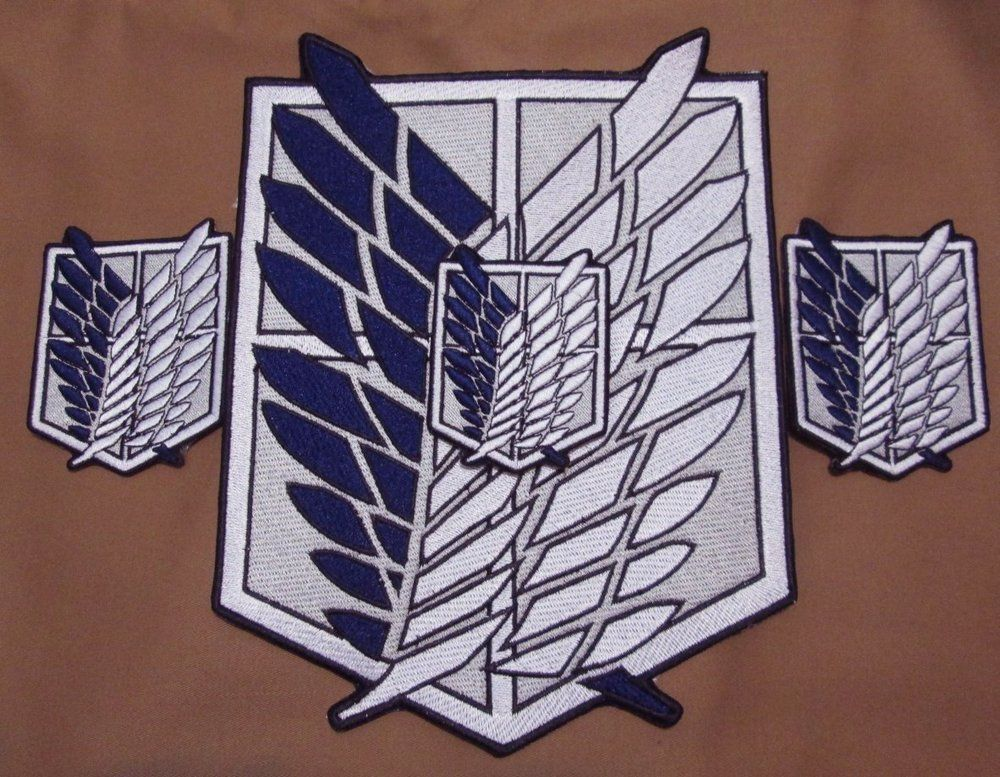 "ATTACK ON TITAN iron on embroidered patches patch Shingeki no Kyoj cosplay 3/"" ."