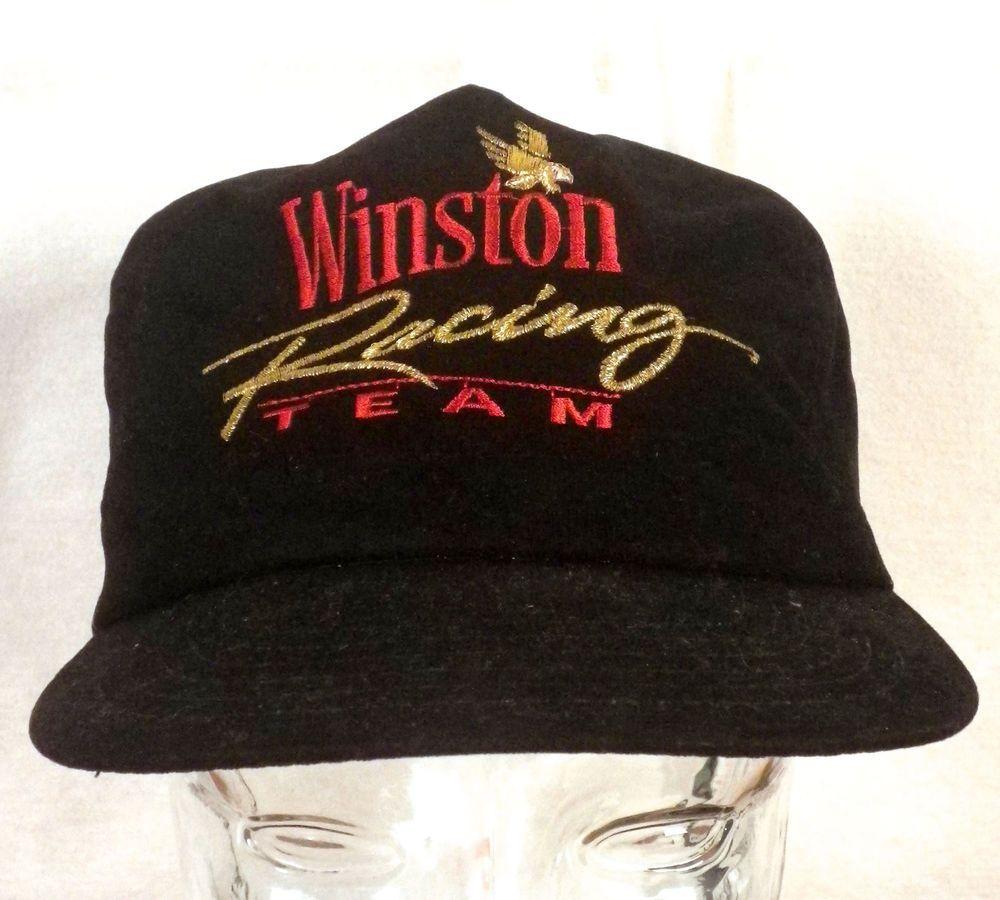 1e439fa125b vtg 80s Winston Racing Team NASCAR Snapback Trucker Hat Cap cigarettes