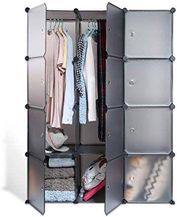 Echiluck Kleiderschrank Garderobenschrank Steckregalsystem