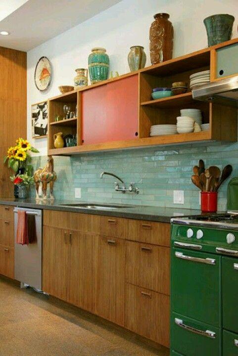 Cocina Vintage Decoration Cuisine Meuble Haut Cuisine Cuisines Retro