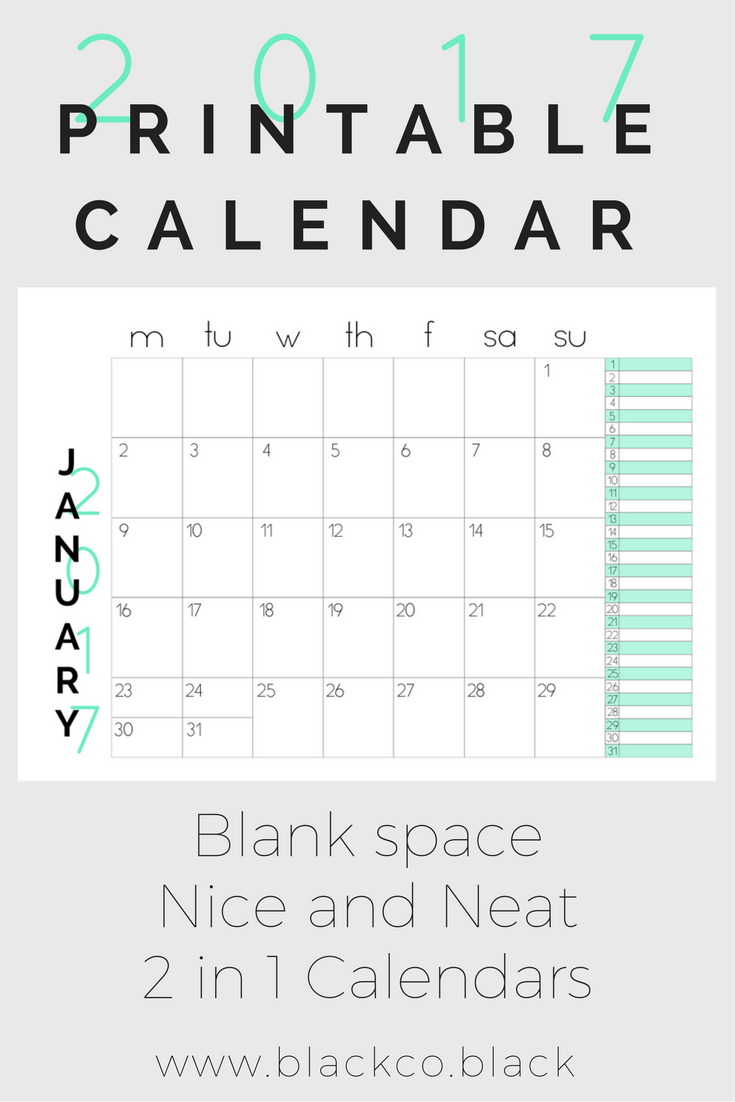 presenting the 2017 printable calendar just a simple printable calendar for less than 1