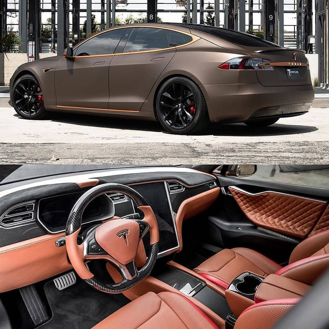 Model S With Bentley New Market Tan Interior With Our Signature