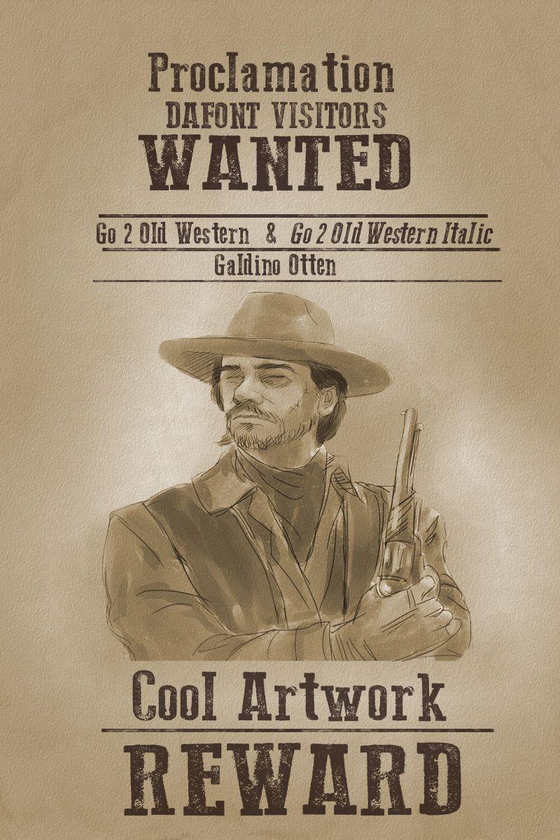 Go 2 Old Western Font | dafont com | School Stuff | Westerns, Fonts