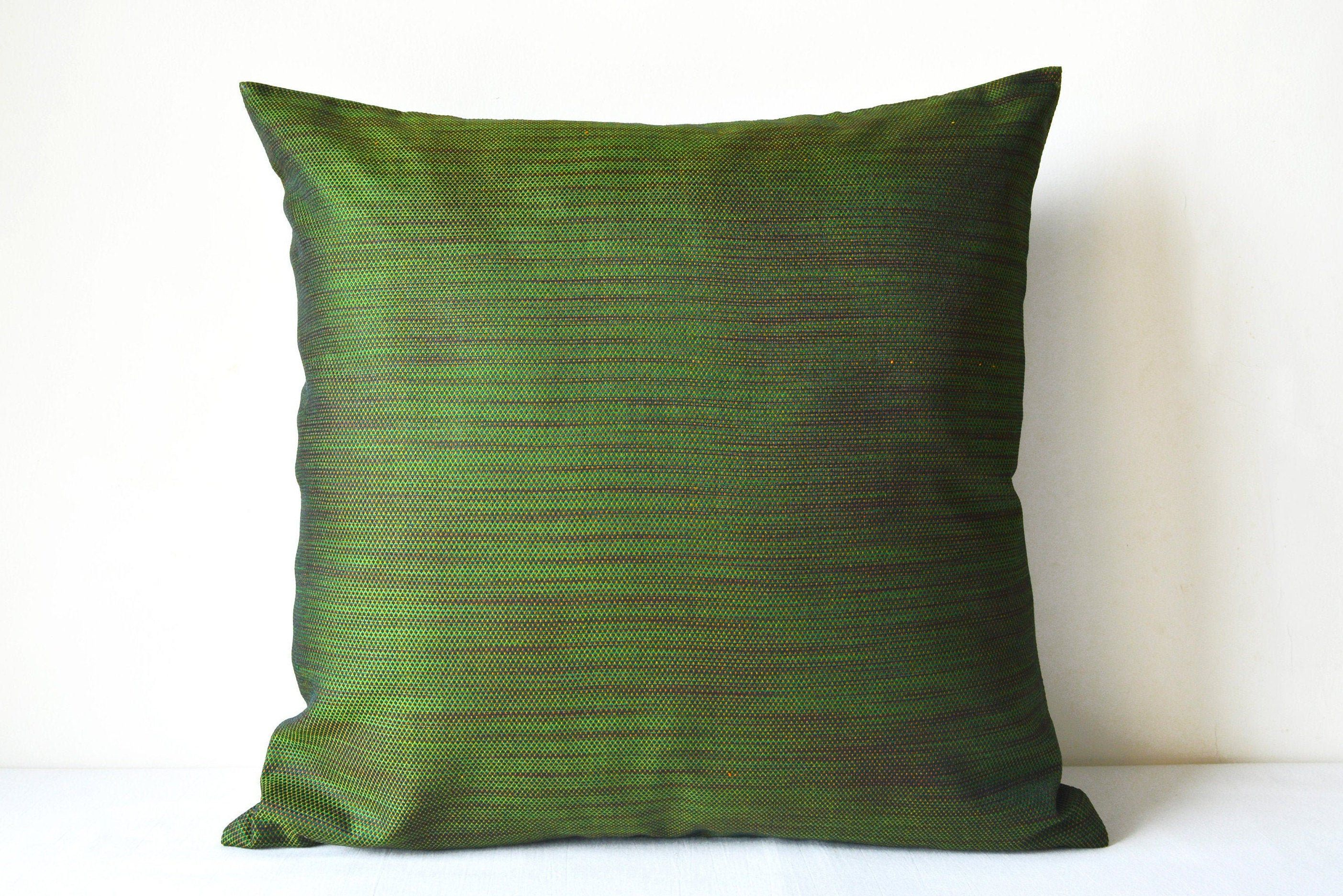 Lumbar Throw Pillow Covers Green