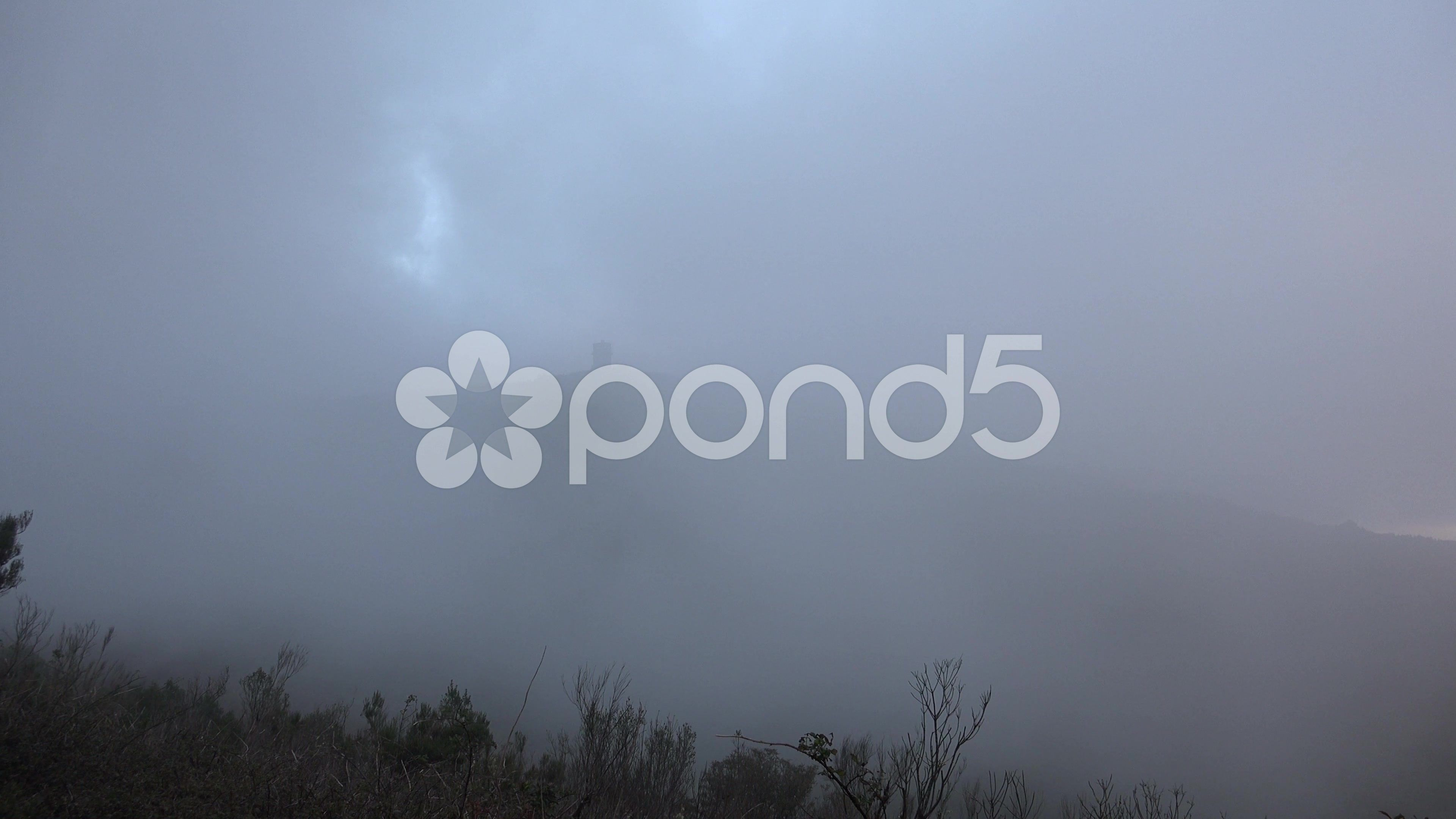 4k Evening clouds and fog at mountain highland sunset - Stock Footage | by Beckhusen