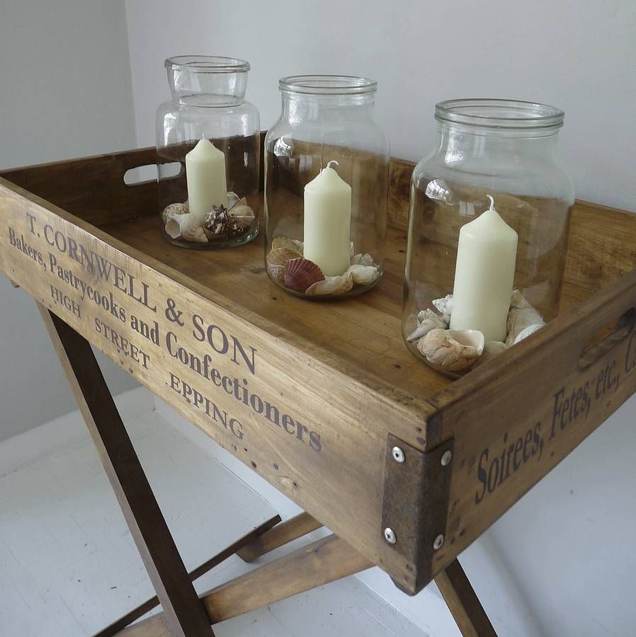 Wooden butler 39 s tray table sweet dreams pinterest for Wooden canape trays
