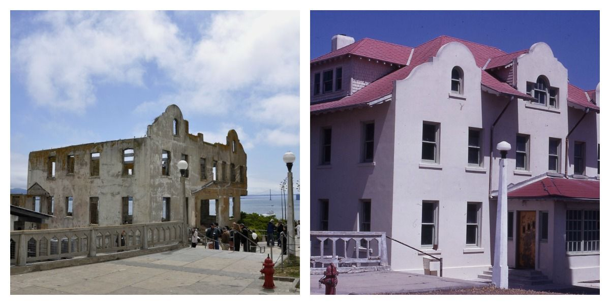 The Warden House Now And Before The Fire Both Photo S By John