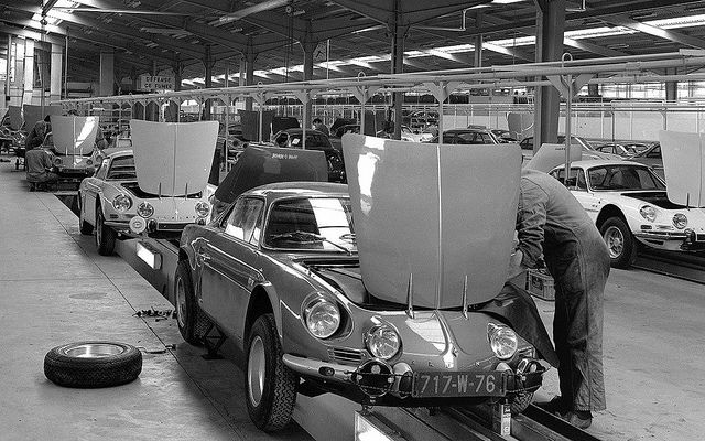 Renault-Alpine A110 assembly by Auto Clasico, via Flickr