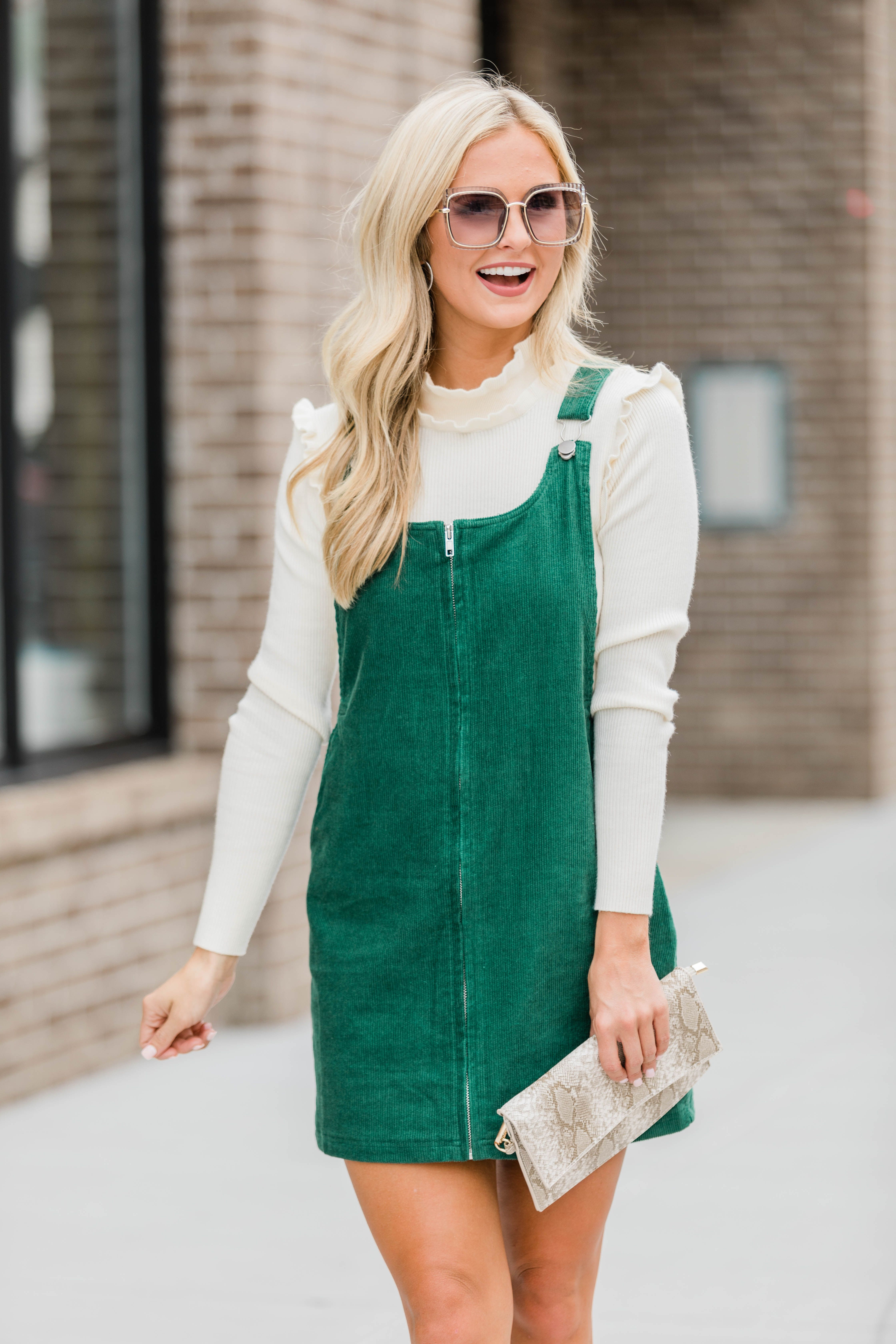 This Sweet Jumper Is Made For Fall Festivals And Gameday Fun Outfits For Teens Corduroy Overall Dress Corduroy Jumper Outfit [ 6720 x 4480 Pixel ]