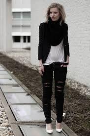 Image result for ripped dark skinny jeans diy