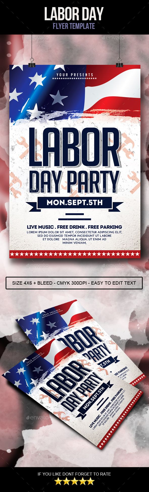 Labor Day Flyer | Pinterest | Flyer template, Labour and Template