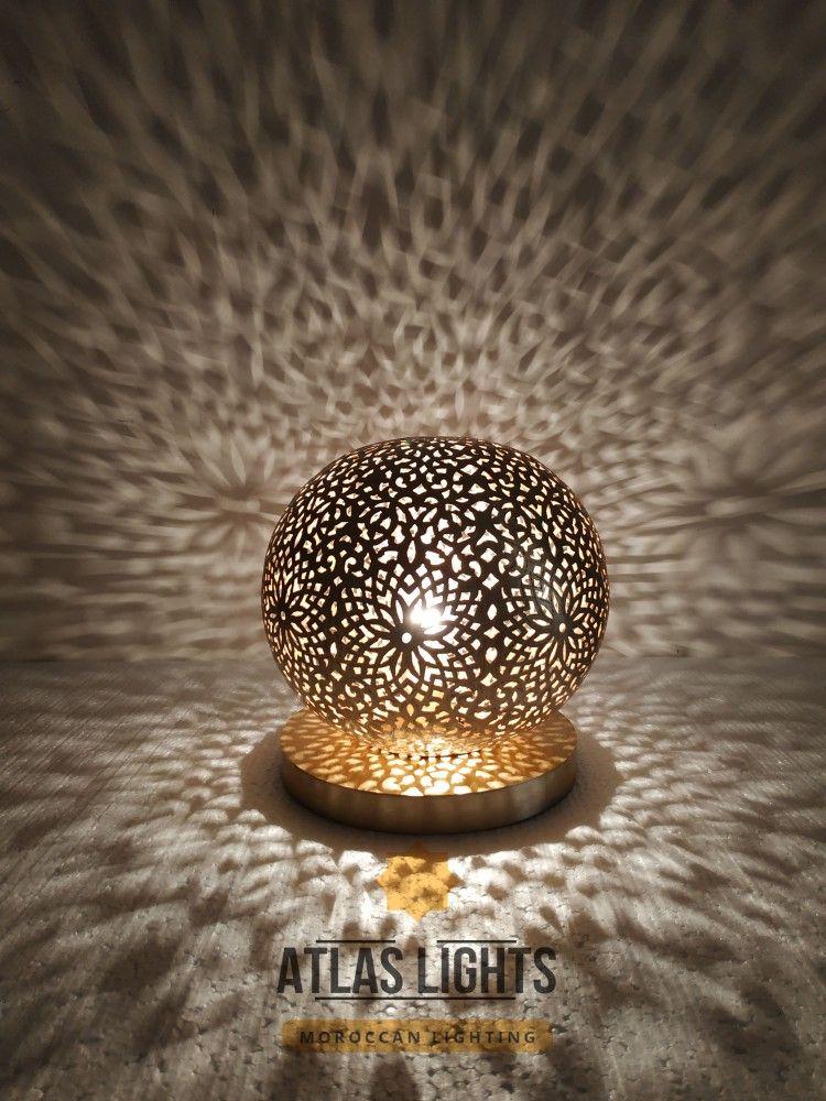 Table Lamp Moroccan Lamp Table Handmade Brass Lamp Style Moorish