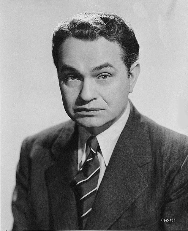 Edward G. Robinson, born Emmanuel Goldenberg.  One of my favorite classic actors and a very refined gentleman in real life.
