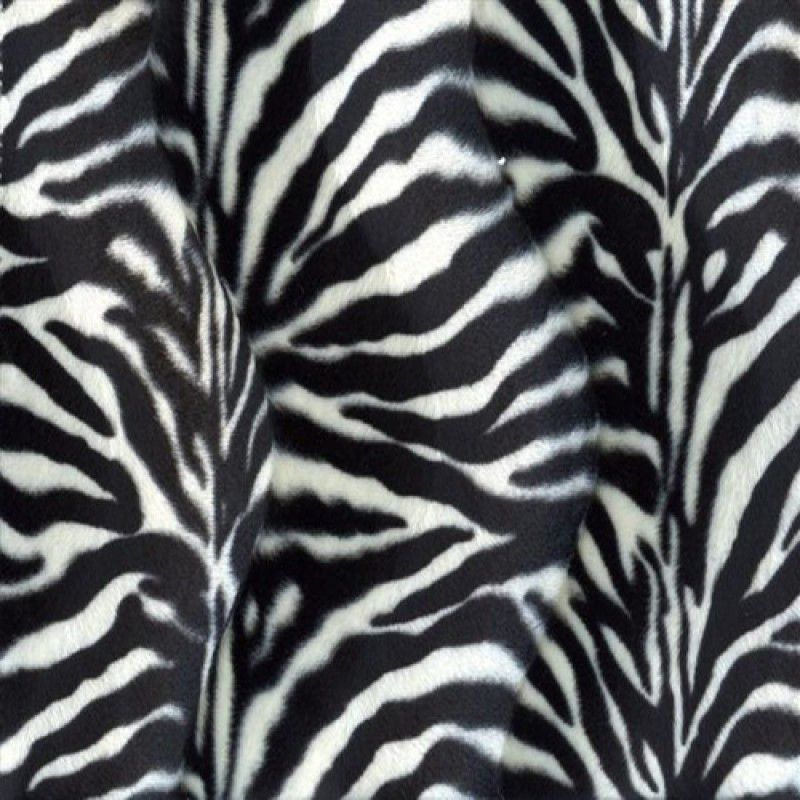 63474f829c1 Velboa Small Zebra White | Dierprint, satijn, bont, fleece | Stof ...