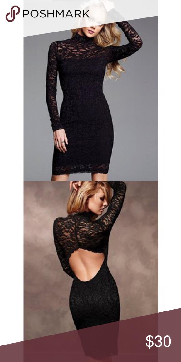 Victoria S Secret Black Lace Dress