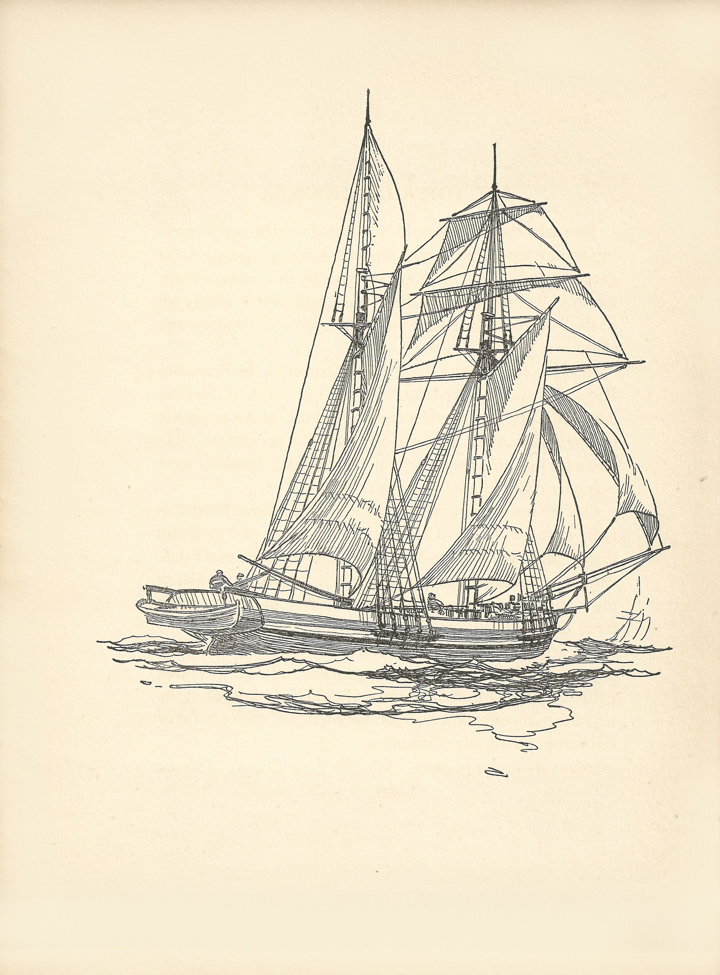 Schooner Drawing