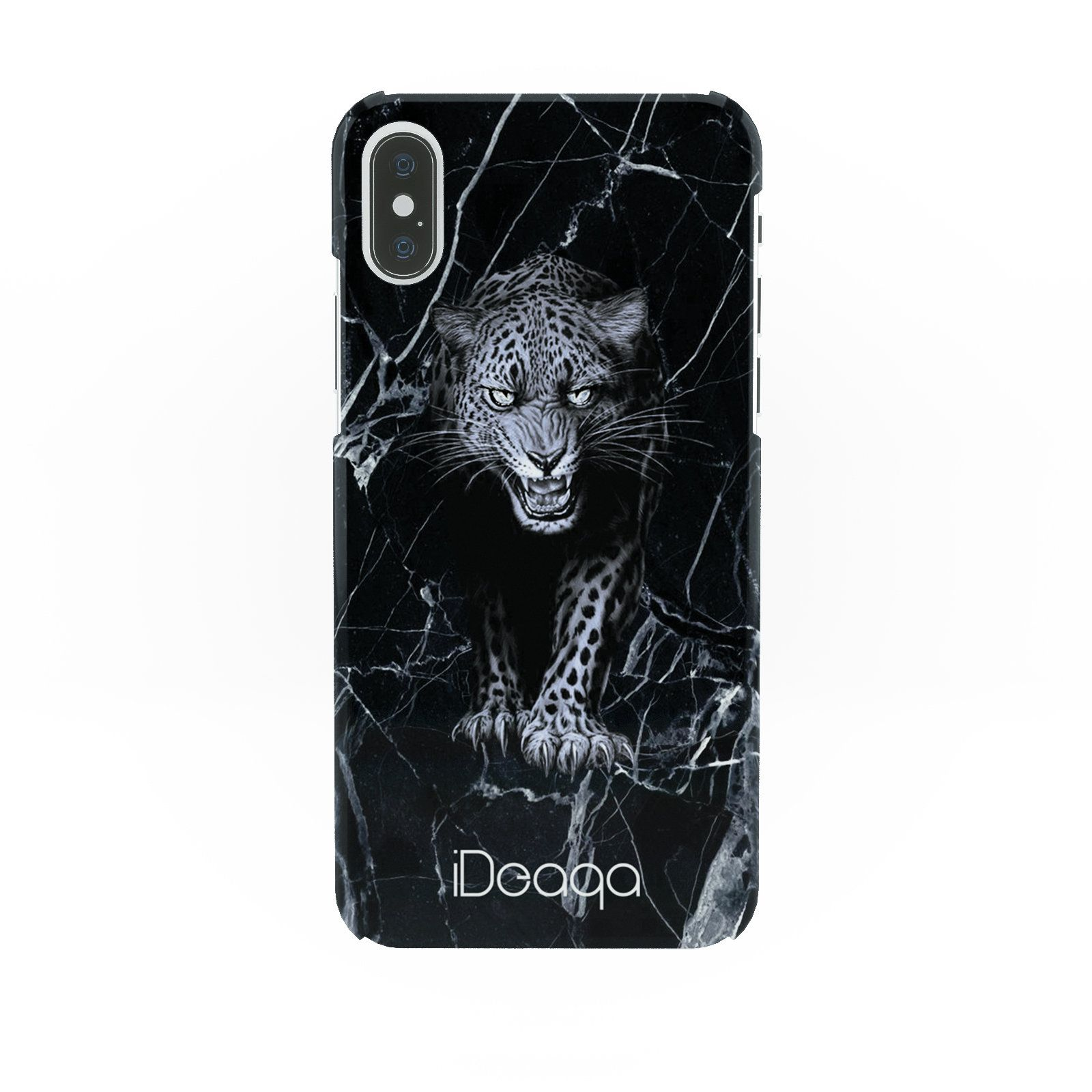 premium selection 12691 f7197 iDeaqa Marble Jaguar Black Animals Protective Hard Case Cover For ...