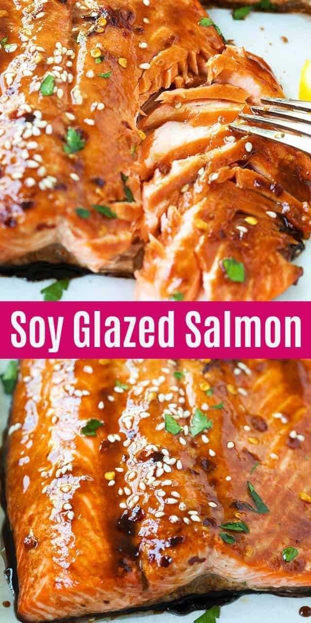Soy Glazed Salmon (The Best Baked Salmon!) - Rasa Malaysia