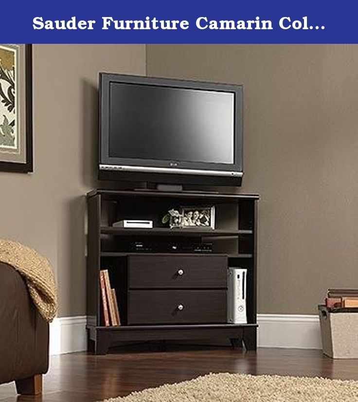 Sauder Furniture Camarin Collection Jamocha Wood Corner Console TV Stand  414707. The Sauder Furniture Jamocha