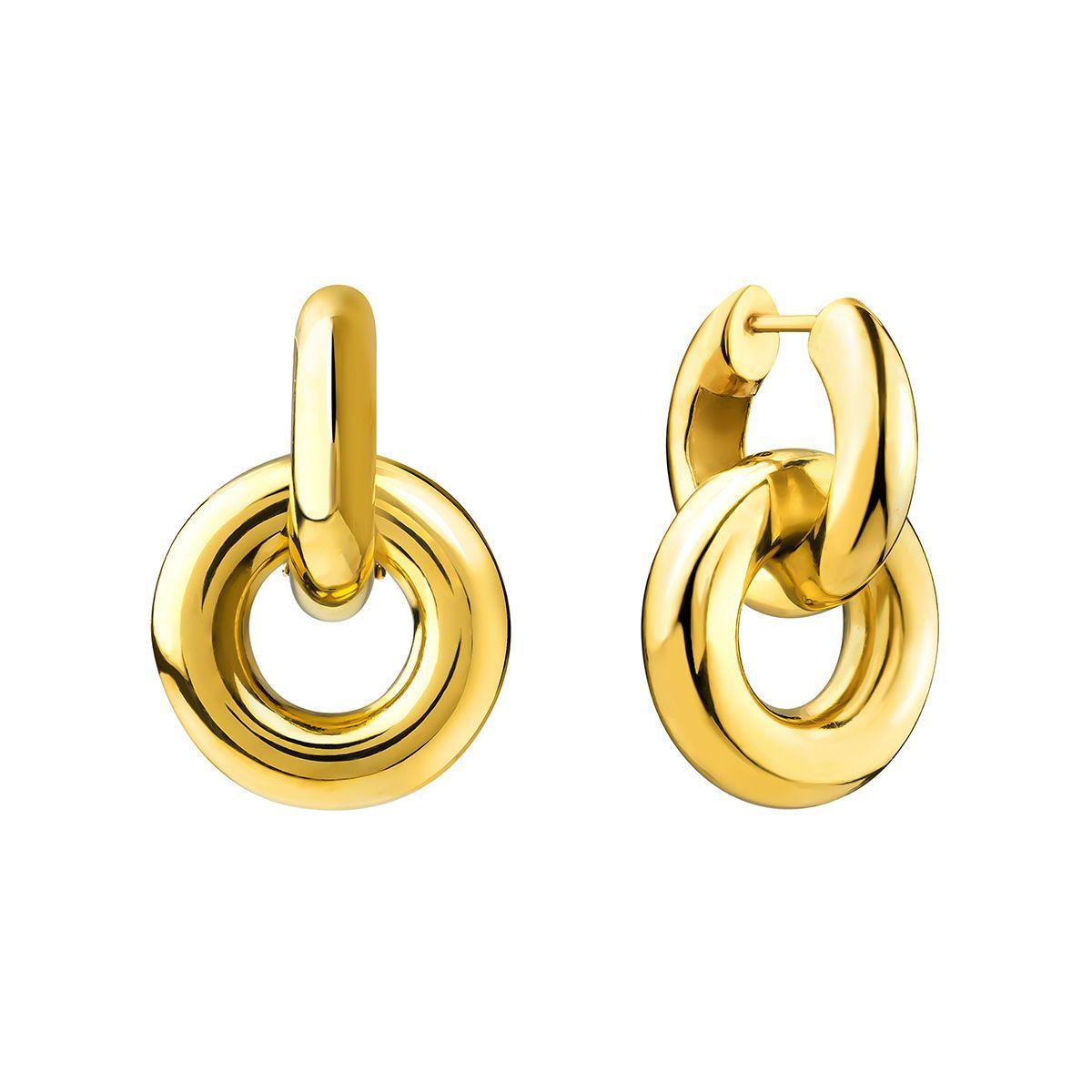 bb94e9444aaa Pendientes de aro doble hilo grueso oro