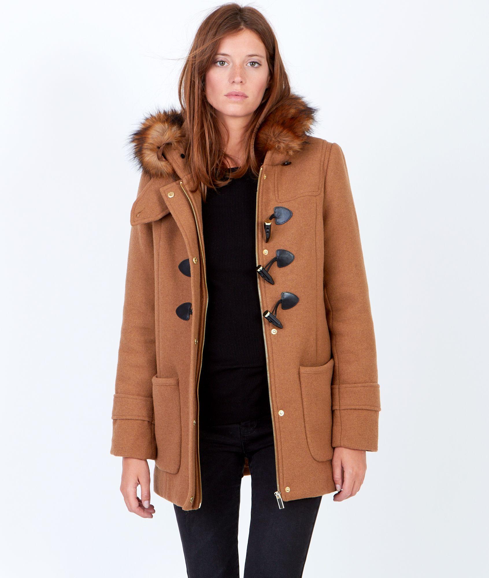 grande vente eb03f f4e08 Etam - Duffle coat à capuche fourrée | Wish wish wish ...