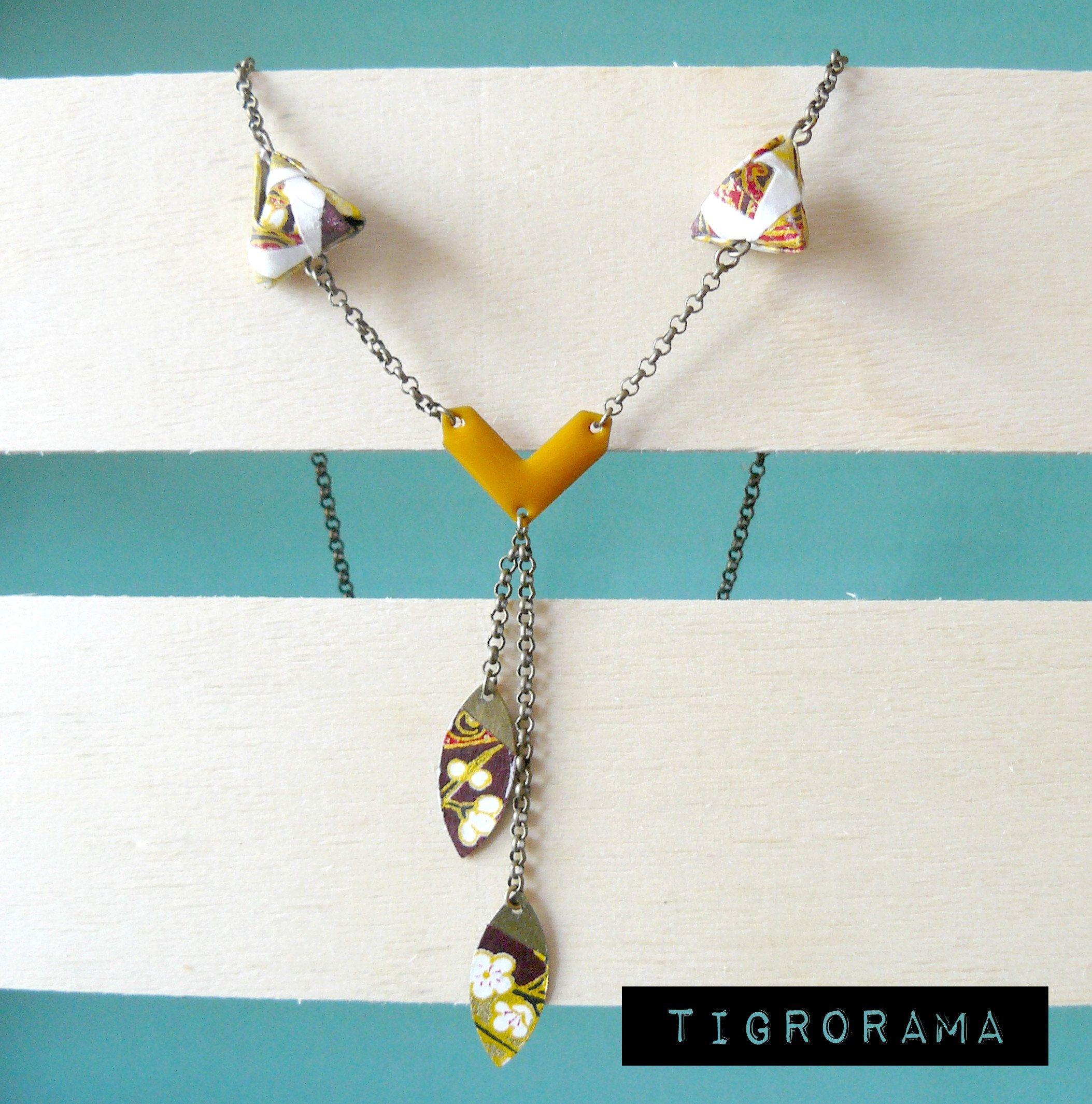 collier diamant origami