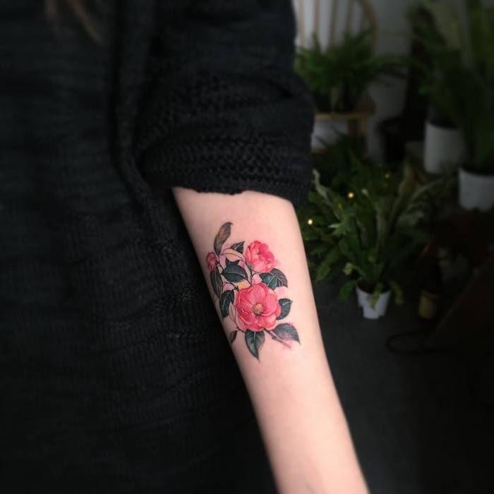 24 Beautiful And Elegant Camellia Tattoo Designs Tattoobloq Tattoo Designs Elegant Tattoos Tattoos