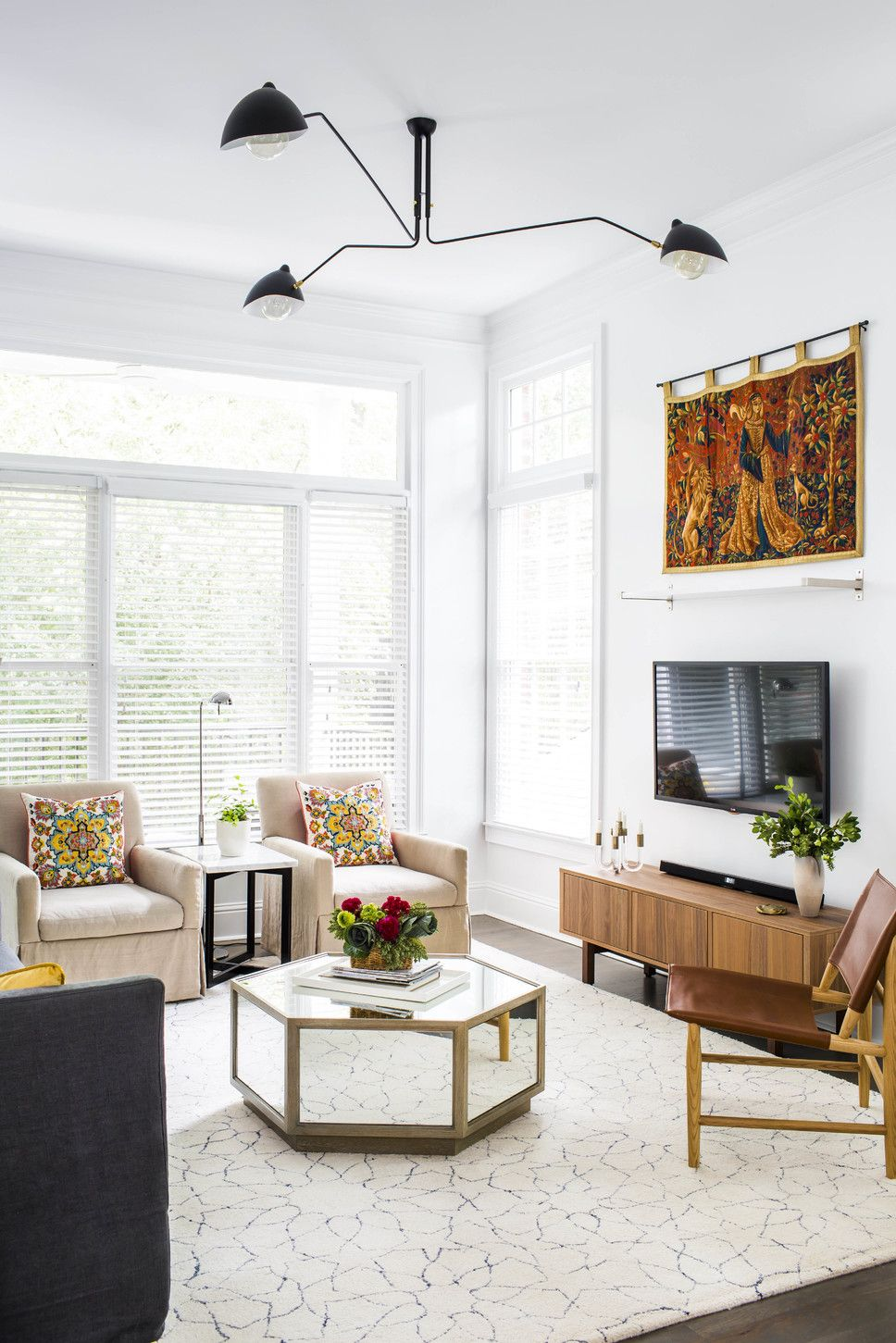 Photographed by Jeff Herr Eclectic Living Room Design wayfair.com ...