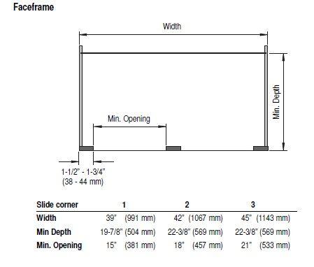 Blind Corner Cabinet Dimensions Faceframe (449×382)