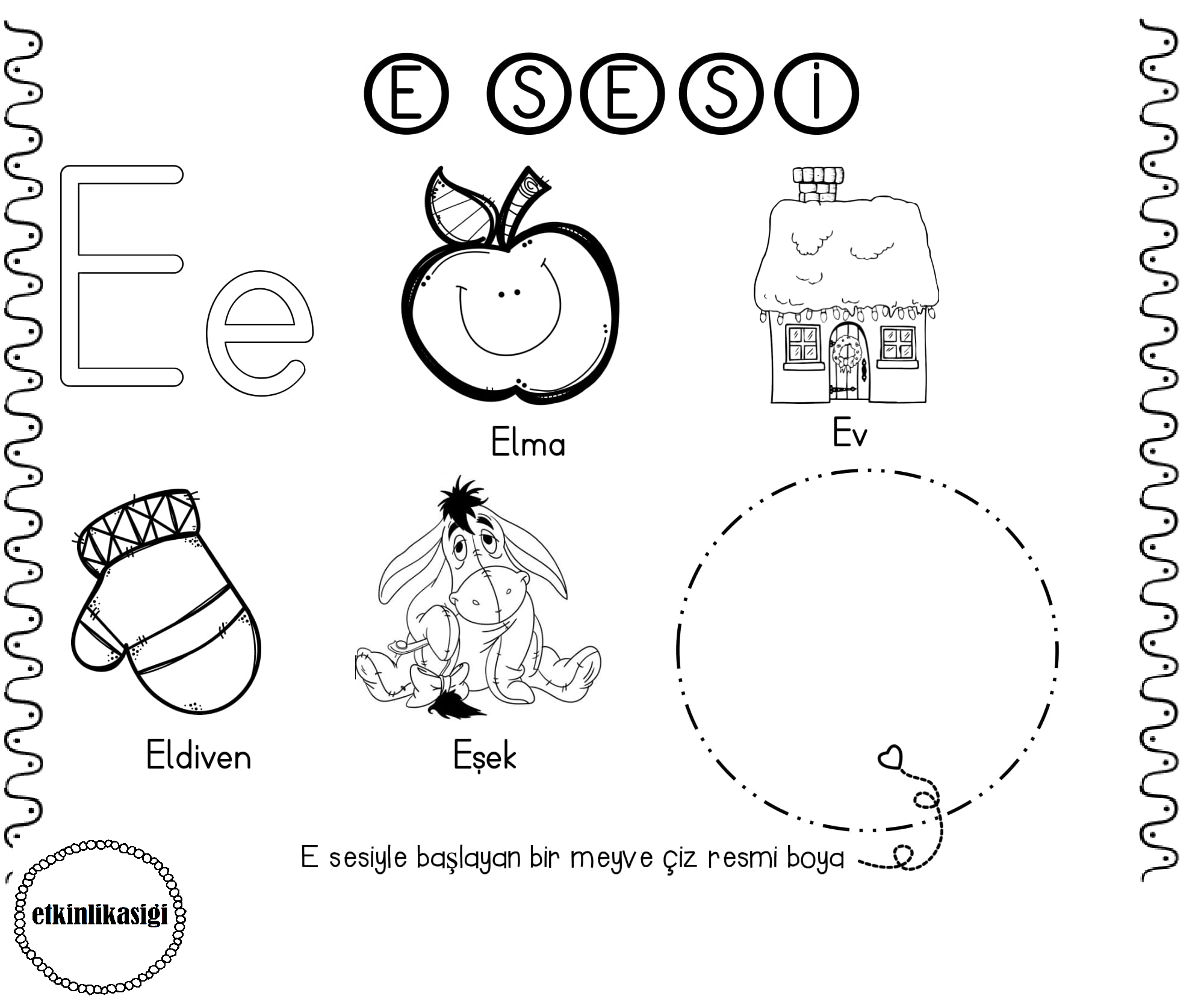 A Sesi Etkinlikler Pinterest Ise Trace Worksheets For