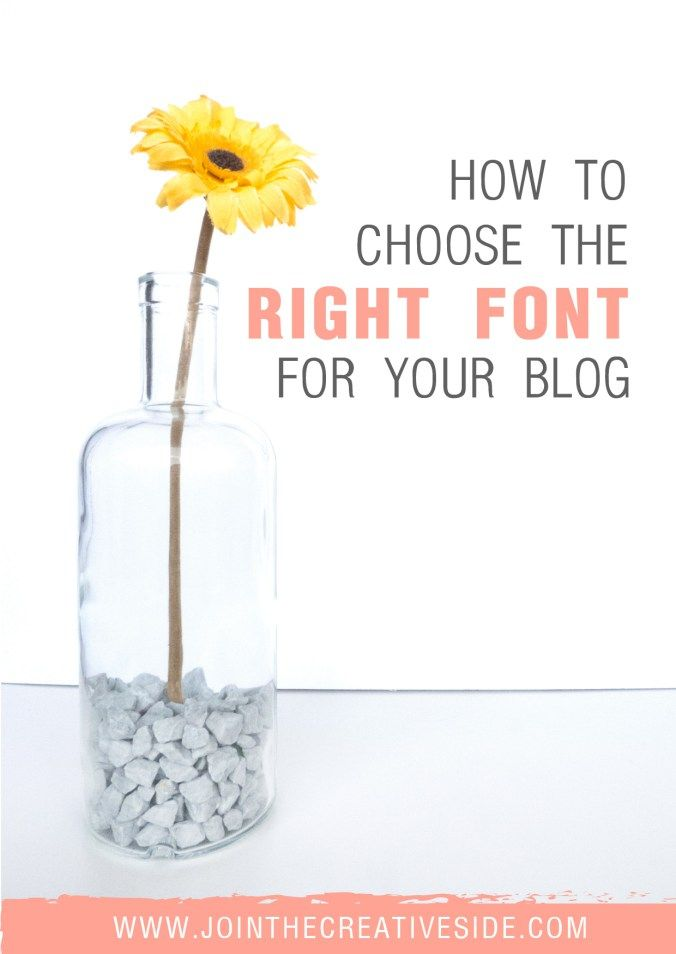 |Join the creative side|How to choose the right font for your blog | I am going to teach you how to choose the perfect font for your website. In this post I will explain you what is the best font to choose