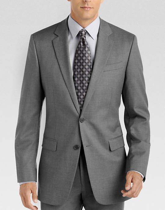 Kenneth Cole Gray Solid Slim Fit Suit $300