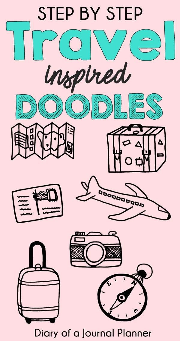 Easy Travel Doodles Anyone Can Draw (With Step By Step ...