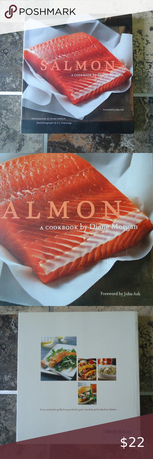 Salmon By Diane Morgan Cookbook Mint Never Used Christmas Recipe Book Homemade Cocktails Recipe Tin